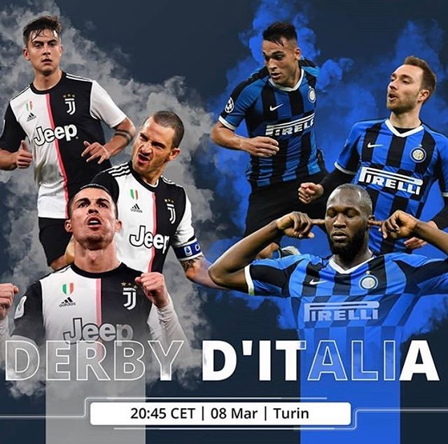 Derby D Italia tonight behind Closed Doors. Musseeeve game between Juventus and Inter Milan in Turin. It's also the Manchester Derby in a little while