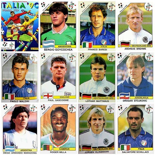 Panini Sticker Albums. Italia 90. Watta thing. Watta World Cup
