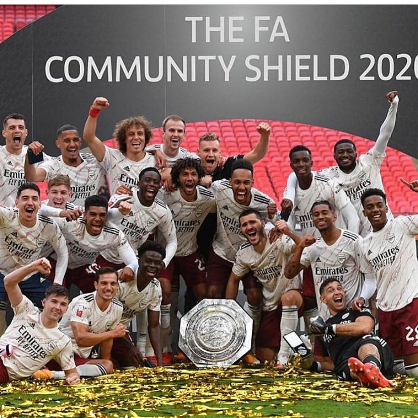 Arsenal are Community Sheld Champions after beating Liverpool on penalties