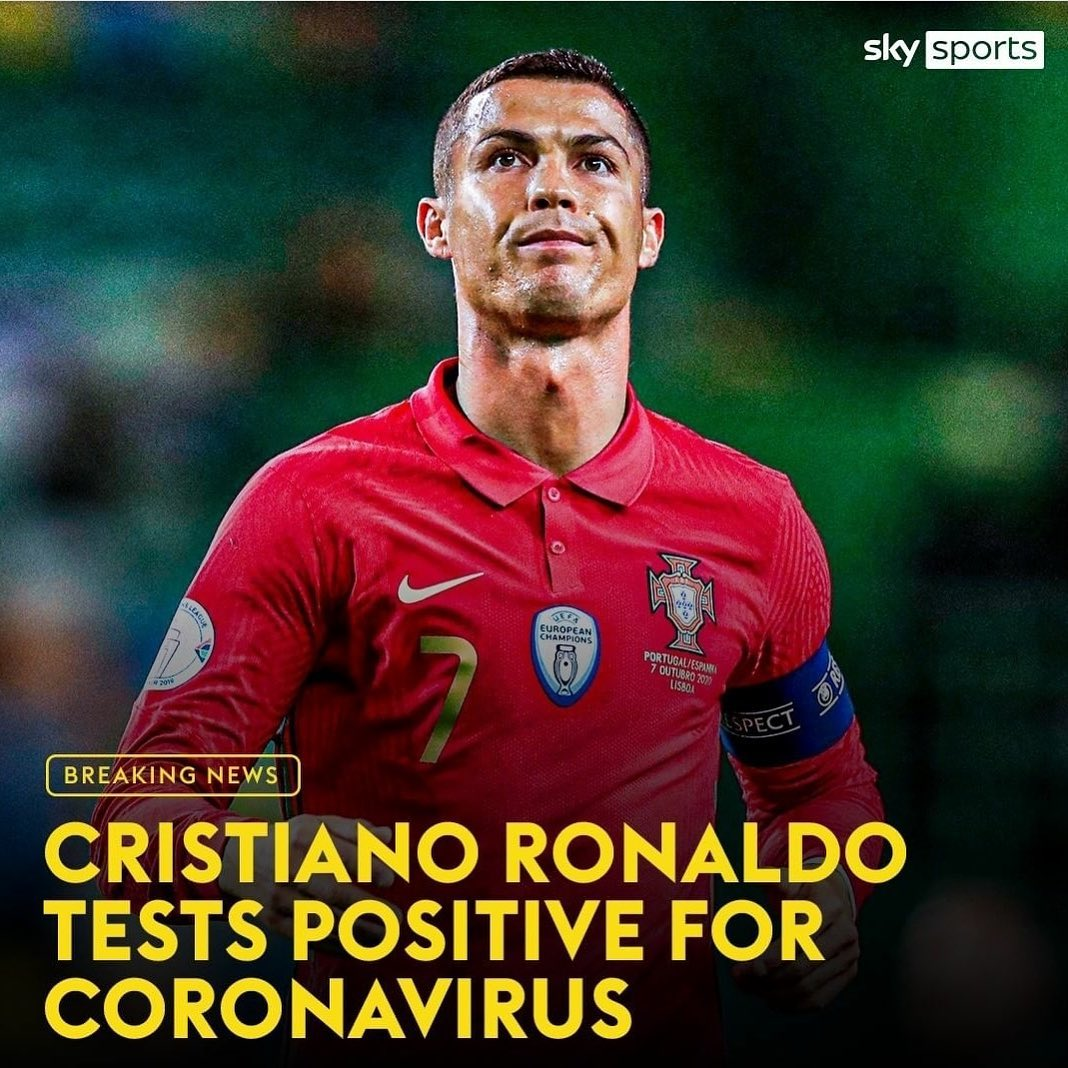 Hectic first the kaam wara now the baas also. Get well CR7. Reports also in that Bruno Fernandez positive. These Internationals were Idiotic.
