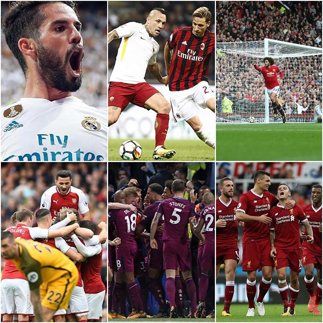 Exciting weekend of footie. We will get to Liverpool in the next post. Pep is playing amazing football with City as they beat Chelsea. The MANCS are giving hiding and even Fele scored twice. Arsenal are on winning ways and must be Happy they got rid of OX. Since OX they been having bad bad Luck. Isco was on fire for Real and Messi's brace ensures a Barcelona win. Milans 2-0 loss could pave the way for Ancelotti to return to the SAN Siro. Juves draw puts them 2 points behind Napoli