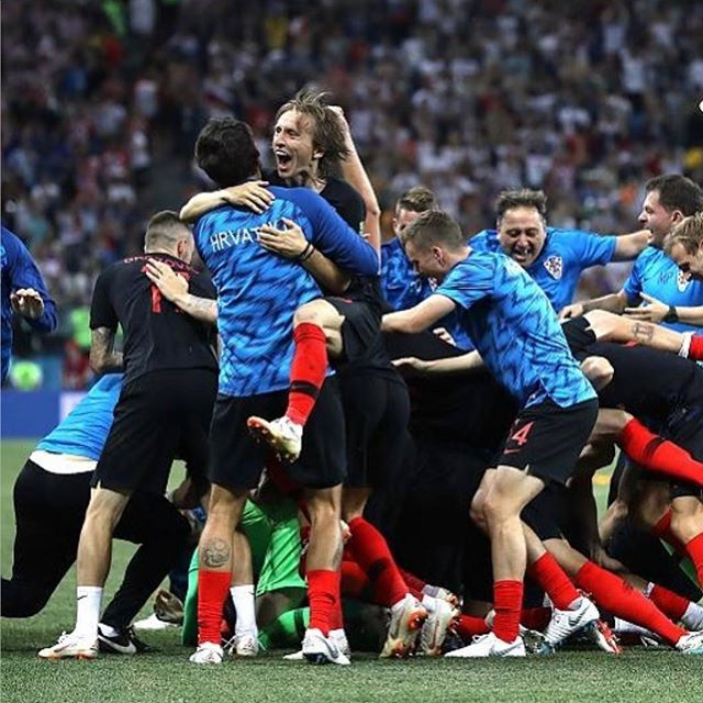 And it's Croatia that will take on Russia in the quarter final. Who Will England play in the Semis