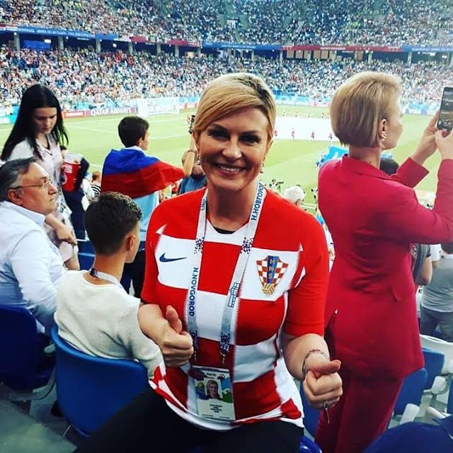 So happy for the Croatian President. See her enjoying the sun in the next pic and don't miss our Badaams series on the InstaStory. It's been a fantastic World Cup