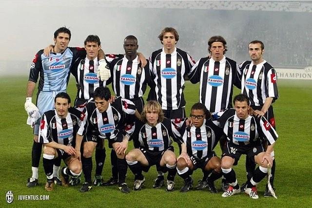 Once upon a time at JuventusBuffon,Ferrara,Thuram,Tudor,Tachinardi,Montero,Zambrotta,Camaronese,Nedved,David's,Del Piero #juventus #juve #bianconeri #legends