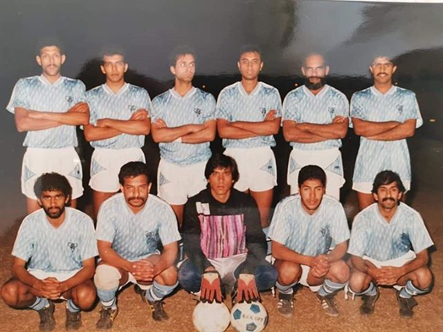 Fordsburg City . Benoni Spurs tounemant. They beat Liverpool frm Benoni 4-0 ? by @riaz_coovadia Standing Left to Right(Zuna Mal,Ismail Hassim,Firi Seedat,Dullah Ackhalwaya,IMo (Zoos Bro),Mohammed Moosajee. Sitting Left to right(Zoo,Hajee,Makda,Basheer Vally,Solly Mangera)Can you spot anyone in the crowd in the next pic #0018LegendsProject