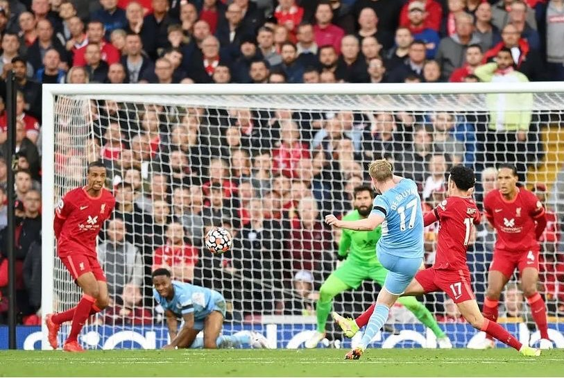 Liverpool 2 Man City 2. Top Game. We were bossed in the first half. Great Salah finish and cruel deflection on the De Bruyne goal. Pep and Klopp will settle for 2-2. Milner lucky not to get a second yellow. Overall Top Game