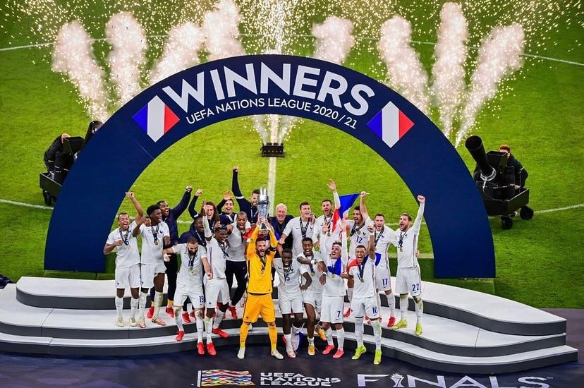The French are Nations League Champions. Was the Mbappe goal offside. Top second half. Silverware is Silverware #france #francenationsleague #francechampions #french #frenchfans #spanishfans #spain #francevsspain #cupfinal #champions